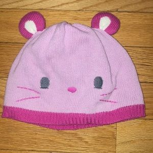 Gymboree Mouse Hat Beanie Cap Girl fits 2-3 years